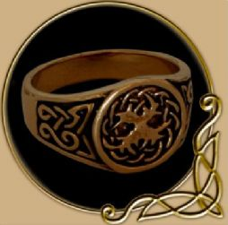 Bronze Celtic Ring Yggdrasil
